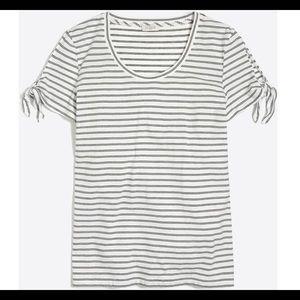 J.Crew Factory Stripe Tie-Shoulder T-Shirt.